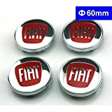 4pcs W176 60mm Car Styling Accessories Emblem Badge Sticker Wheel Hub Caps Centre Cover FIAT Bravo Viaggio Linea Sedici Siena 124 125 500 695 OT2000