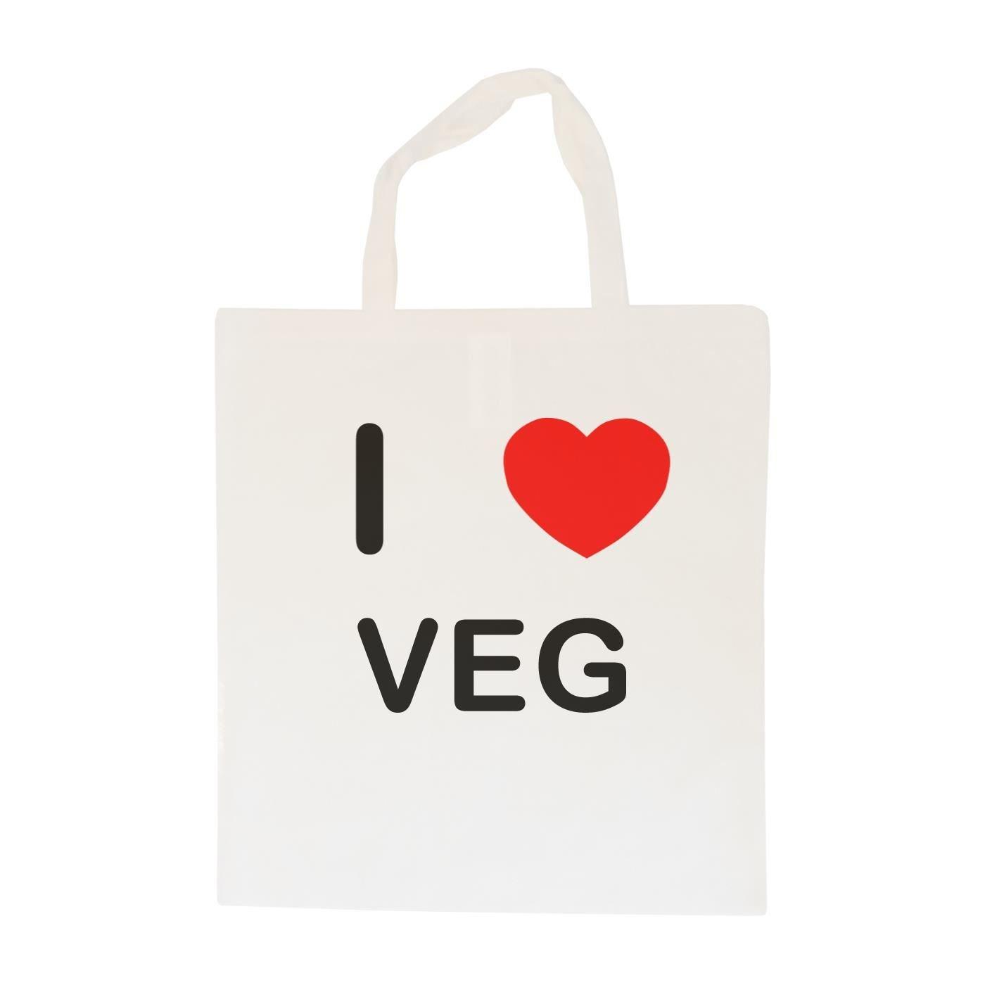 Cotton Maxi Shopping Bag I Love Veg