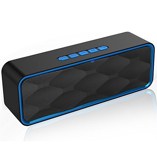 Wireless Speaker 4.2 Bluetooth Portable Stereo HD Audio Mega Bass TF Card Slot