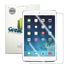 GreatShield MERE Mark II [Ultra Clear HD] Anti-Scratch Screen Protector Shield Film for New Apple iPad Air / iPad 5 5th Gen (3 Packs) - Lifetime Replacement Warranty