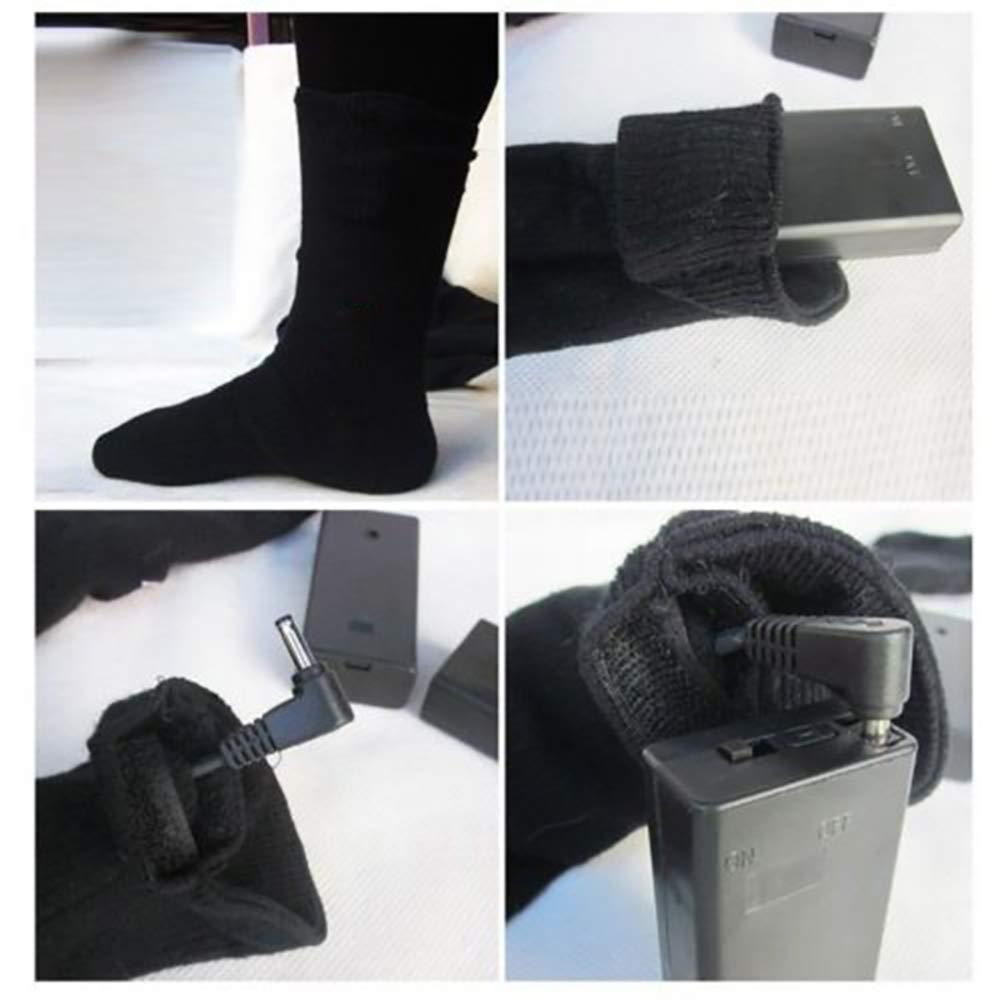 ahanzhu Batterie pour Chaussettes chauffantes kit de Chaussettes chauffantes /électriques pour Pieds froids /à Long Terme Chaussettes Chaudes en Coton /épais Hiver Chaussettes Chaudes pour Hommes