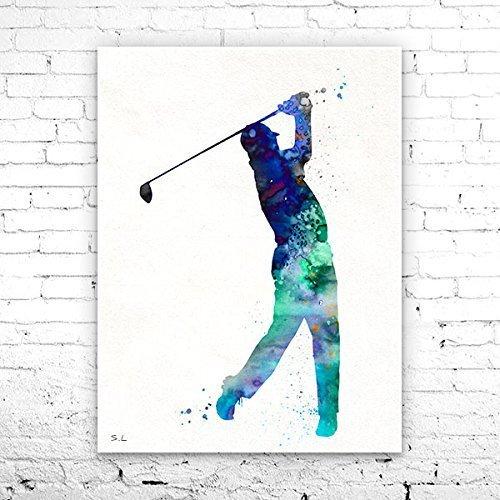 Amazon Com Golf Watercolor Painting Print Golf Art Watercolor