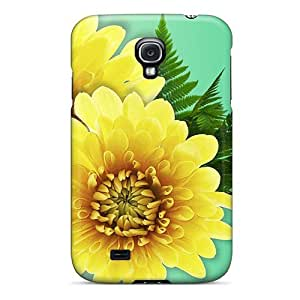 linJUN FENGGalaxy S4 Case Cover Chrysanthemum Gold Case - Eco-friendly Packaging