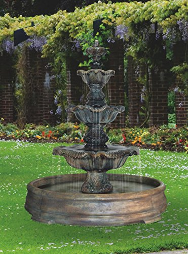 HENRI STUDIO Three Tier Renaissance Fountain in Grando Pool