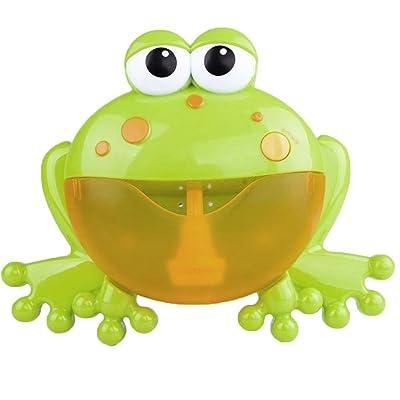 Ohwens Bubble Machine Big Frogs Automatic Bubble Maker Blower Music Baby Bath Toy Frog Bubble Machine for Kids: Hogar