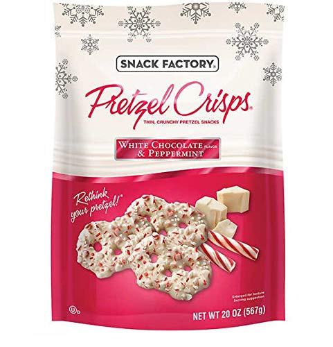 Snack Factory White Chocolate & Peppermint Pretzel Crisps - 20 oz. (567g) by FCV