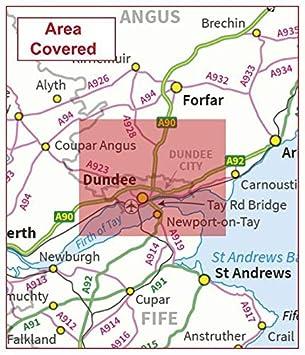 Flat Dundee Postcode City Sector Map Face Laminated