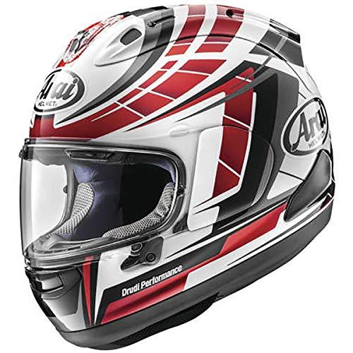 (Arai Corsair-X Planet Adult Street Motorcycle Helmet - Red/Medium)
