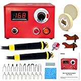 Wood Burning Machine Kit, 110V 50W Pyrography Wood Burner With Digital Temperature Adjustment, Electric Woodburning Detailer For Wood Leather Gourd - Tektree