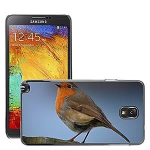 Etui Housse Coque de Protection Cover Rigide pour // M00116047 Robin naturaleza del pájaro // Samsung Galaxy Note 3 III N9000 N9002 N9005