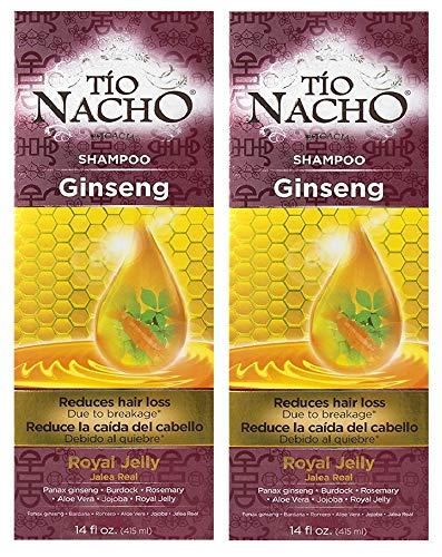 2x Tio Nacho GINSENG Shampoo Royal Jelly Reduce Hair Loss/La Caida Del Cabello by Tio Nacho