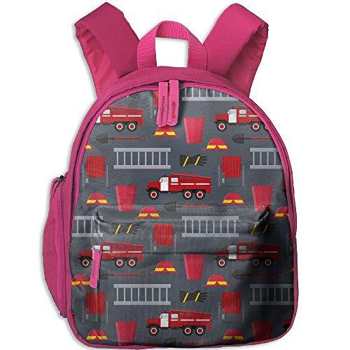 SARA NELL Kindergarten Backpack Firefighter Profession Equipment And Tools Children School Bag -