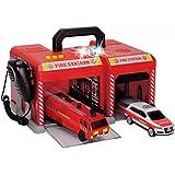 Dickie SOS Station Licht Sound Mikrofon Feuerwehr Polizei Auto Heli Spielzeug: Set: Feuerwehr