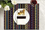 Tribal Collection- AFRICAN-Exquisite DIY Adult Coloring Placemats -Set of Four