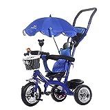 Qianle Kids Steer Tricycle Ride On Tribike Blue