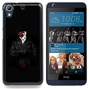 For HTC Desire 626 & 626s - Cool Trench Coat Superhero Watch Man /Modelo de la piel protectora de la cubierta del caso/ - Super Marley Shop -