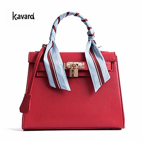 AASSDDFF Luxury Handbag Crossbody Bags para mujer 2017 Fashion Design Women's shoulder bags Ladies bolsos, verde rojo