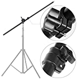 ASHANKS Photo Video Studio Lighting Boom Arm with Sandbag Extendable Arm Support with Reflector Arm Holder Top Light Stand for Softbox Light