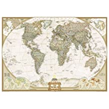 World Executive, Mural Wall Maps World: 3 Parts (Reference - World) by National Geographic Maps published by NATIONAL GEOGRAPHIC MAPS DIVISION (2012)