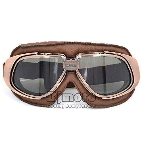 Biggles Costume (Retro Vintage Aviator Pilot Motorcycle Cruiser Scooter Biker Goggles)
