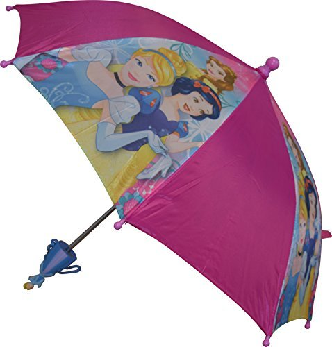 Disney Girls Princess Umbrella With 3D Handle Pink ()