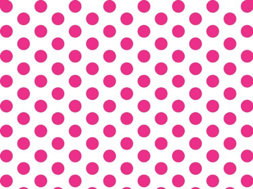 Hot Pink and White Polka Dot Tissue Paper - 20 Inch x 30 Inch - 48 XL Sheets