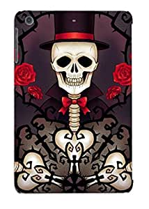 LYWtHcR937Uviws Tpu Case Skin Protector For Ipad Mini/mini 2 Skeletons In Tophats And Roses With Nice Appearance For Lovers Gifts