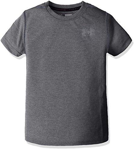Under Armour Boys Threadborne T-Shirt,Black (001)/Graphite, Youth Medium (T-shirt Youth Time Big)