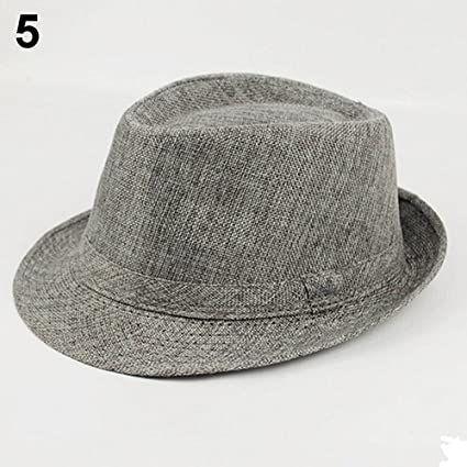 Saniswink Stylish Warm Hat Mens Womens Summer Beach Hat Sun Screen Linen Fedoras Outdoor Travel Hats
