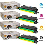 LD © Compatible Set of 4 Samsung CLP-620, CLP-670, CLX-6220, and CLX-6250 Cartridges: 1(Black/Cyan/Magenta/Yellow), Office Central