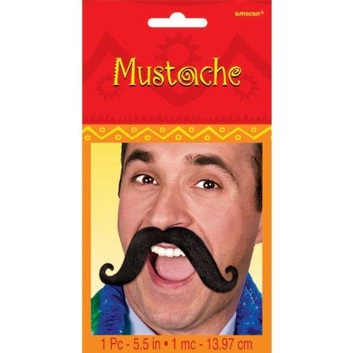 Cinco De Mayo Black Handlebar Moustache | Party Accessory -