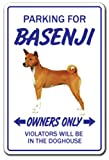 Basenji Novelty Sign | Indoor/Outdoor | Funny Home Décor for Garages, Living Rooms, Bedroom, Offices | SignMission Gift Hound Pet Groomer Vet Gag Funny Sign Wall Plaque Decoration