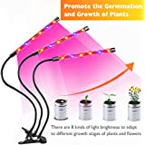 Grow Light,36W LED Grow Lamp for Indoor Plants,Auto ON &Off Timer,18 LED Bulbs with Red & Blue Spectrum,4/8/12H Timer, 8 Dimmable Levels for House Garden Hydroponics Succulent Growing
