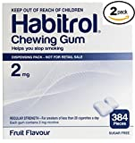 Habitrol Nicotine Gum 2mg Fruit Flavor. 2 bulk packs of 384 (total 768 pieces)