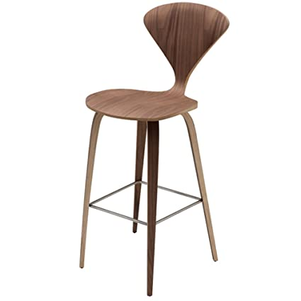 Nuevo Living HGEM35 Satine American Walnut Bar Stool Walnut