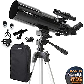 Celestron 21061 AstroMaster 70AZ Refractor Telescope with Mars Observing Telescope Accessory Kit//Deluxe kits and Eyepiece Filter