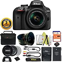 Great Value Bundle for D3400 DSLR with 18-55mm AF-P Digital Camera + 3 Year CPS Extended Warranty