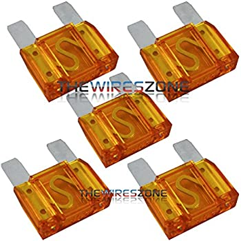 10Pcs Fuse 40 Amp 40A Large Blade Style Audio Maxi Fuse For Car RV Boat Auto