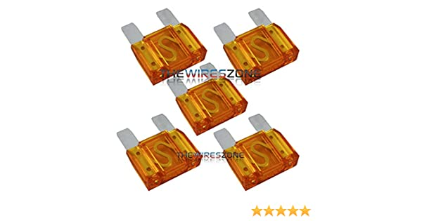 5 Pack of 60 Amp 60A Large Blade Style Audio Maxi Fuse for Car RV Boat Auto
