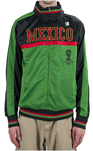 - 2014 FIFA World Cup Soccer Hat Trick Mexico Yoke Track Jacket (Medium)
