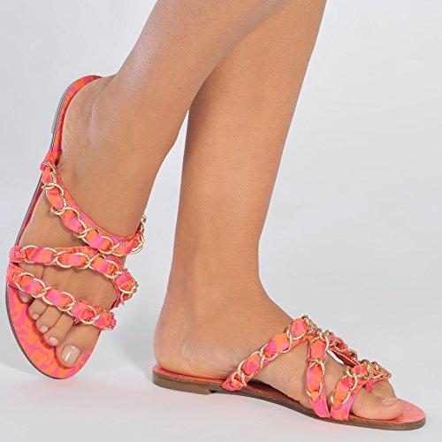 Sophia Webster - Taya 60s Slides Pink QJT5r