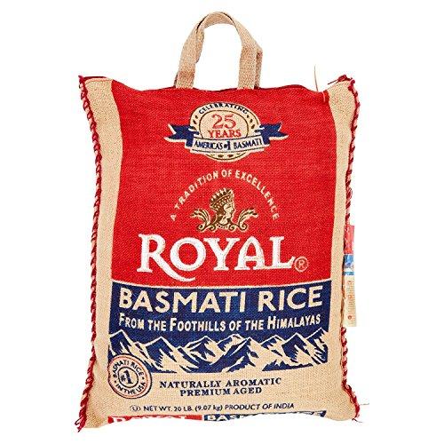 Royal Naturally Aromatic, Premium Aged Basmati Rice, 20 lb Product of India by Royal