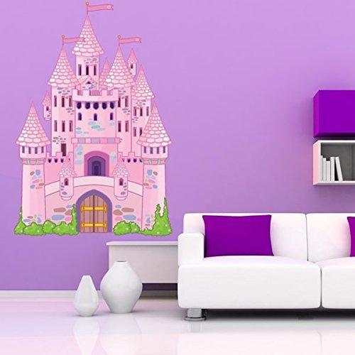 Fairy Tale Castle Nursery Wall Decal 46in x 33in [並行輸入品]   B077ZPQ13C