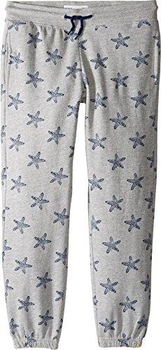 C&c California Pocket (C&C California Kids Girl's Fleece Bottom (Little Kids/Big Kids) Star Print Light Grey Heather Small)