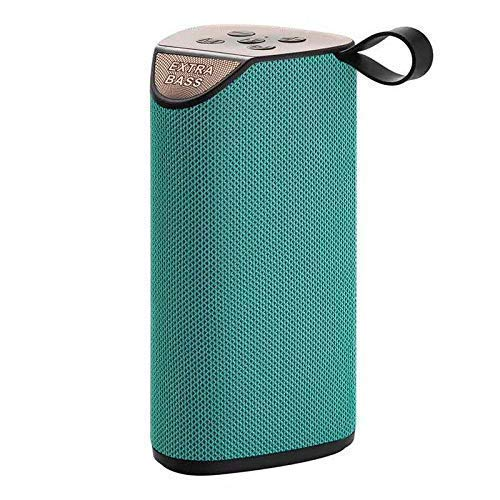 Fabcoll Bluetooth Speaker Portable Outdoor Rechargeable Wireless Speakers Sound bar Sub Woofer Loudspeaker TF MP3 in-Built Mic (C – Green)