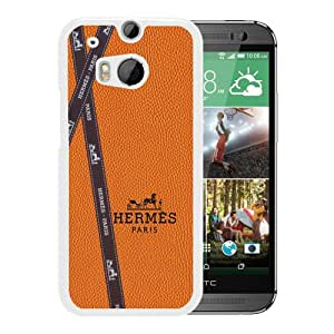 Fashionable And Unique Designed Cover Case With Hermes 7 White For HTC ONE M8 Phone Case