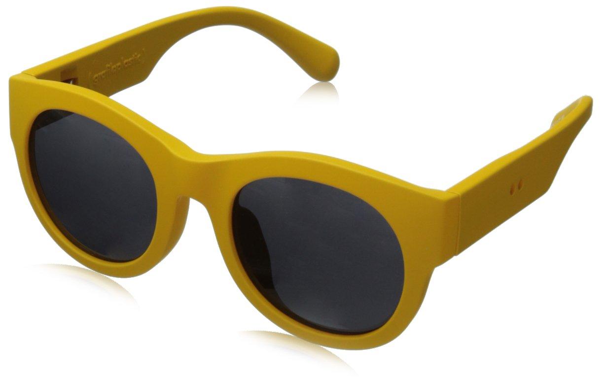 grafik:plastic David Wayfarer Sunglasses,Yellow & Grey,51 mm by grafik:plastic