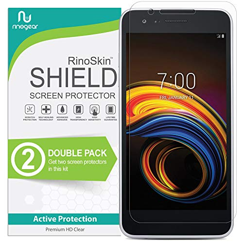 (2-Pack) RinoGear for LG Tribute Empire Screen Protector Case Friendly Screen Protector for LG Tribute Empire Accessory Full Coverage Clear Film (Empire Screen Protector)