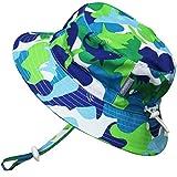 Baby : Kids Summer Quick Dry Swim Sun Hats 50 UPF, Adjustable Foldable Packable (L: 15m - 5Y, Blue Shark)