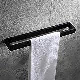 Hoooh Matte Black Hand Towel Holder for Bathroom, 15-3/4 Inch Stainless Steel Kitchen Towel Bar Wall Mounted, D110L40-BK